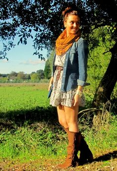 Zara  Shirt / Blouses, Zara  Dresses and Alpe  Boots
