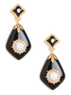Miriam Salat Black Glamour Earrings