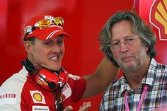 Michael Schumacher with Eric Clapton