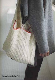 Japonais tricot & Crochet tricot sac recette par JapanLovelyCrafts