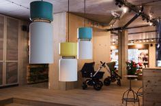 Toques sensoriales de Werner Aisslinger en la tienda de Bugaboo Berlín.