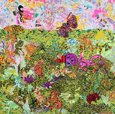 Lay Down with Ghosts - Brian Chippendale Cool Art, Fun Art, Butterfly, Thesis, Painting, Colorful, Cool Artwork, Painting Art, Paintings