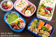 Packing bentos are great for work and school! Here are some helpful tips and tools on how to make bento.