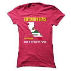 Huntington Beach, California - This Is My Happy Place - #shirt design #custom hoodie. OBTAIN LOWEST PRICE => https://www.sunfrog.com/States/Huntington-Beach-California--This-Is-My-Happy-Place-lvfoqzpfjo-Ladies.html?id=60505