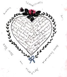 A sweet calligraphic Valentine to one's home state