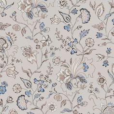 En ljuvlig tapet som inspirerats av ett omtyckt mönster från 1700-talet. De väl avvägda färgerna i det slingrande blom- mönstret, gör att man med fördel kan tapetsera hela rum.