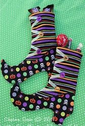 Witch Shoe Treat Bags. The Witch Shoe Treat Bags also double as silverware holders! Use this Halloween sewing pattern for candy or to dress up your holiday table scape. If you're looking for Halloween sewing projects, try this cute project.
