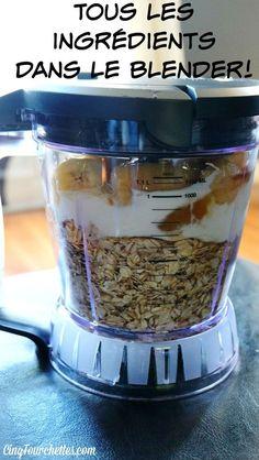Je ne sais pas si vous avez déjà entendu parler des recettes de muffins à faire dans le mélangeur? C'est très intéressant parce qu'on a qu'un seul truc à laver après : le bol du blender! Sans compter tout le temps