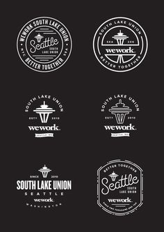 WeWork Seattle Badges by Jeremiah Britton, via Behance