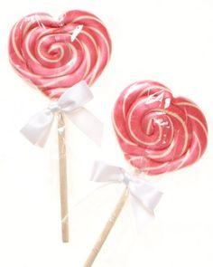 Heart Lollipops-Wedding Cake Candies| Martha Stewart Weddings