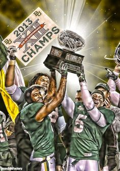 #Baylor Football: undisputed Big 12 Champs! // photo by LM Otero, effects by TexasEdits on Twitter
