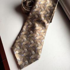 Mens necktie Mens tan and blue David Taylor necktie. David taylor Accessories Ties