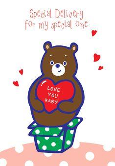 Free Printable Love You Baby Greeting Card