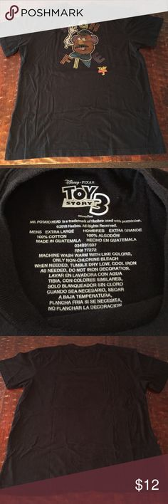 Men's XL Toy Story 3 Tshirt This XL men's Toy Story 3 tee is in excellent condition. It was only worn a couple times as it was way too big. Any Questions, Just Ask. Comes from a Smoke Free/Feline Friendly home. Offers always welcome. Shirts Tees - Short Sleeve