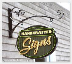 uksignboards.com : Hand carved HDU, gilded projecting sign