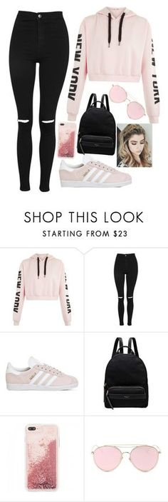 """Untitled #4"" by qoeen ❤ liked on Polyvore featuring Topshop, adidas, Radley and LMNT"