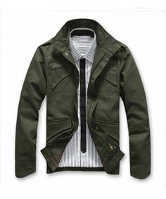Wholesale Green Fall/Winter Version Men Polyamide Coat M/L/XL/XXL@dat283green in ClothingLoves.net.