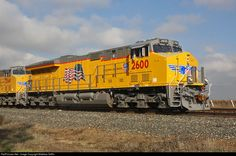 (ET44AH).    UP  #2600.  G.E. Evolution Series locomotive.     A G.E. ES44AC ballasted to 420,000+ lbs for added tractive effort, custom-built for Union Pacific. Tier 4 compliant.