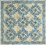 Aegean Sea, designed and pieced by Judy Martin for her book, Stellar Quilts. Quilted by Debbi Treusch.