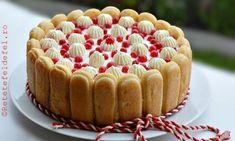 Tort cu iaurt si fructe, un desert racoritor si delicios, rapid, fara coacere, foarte, … Romanian Food, Sweet Cakes, Tiramisu, Cheesecake, Deserts, Dessert Recipes, Food And Drink, Cooking Recipes, Vegetarian