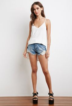 Longline Vented Cami | Forever 21 - 2000142116