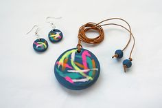 Make a Painterly Pendant and a Pair of Earrings with Polymer Clay - Tuts+ Crafts & DIY Tutorial
