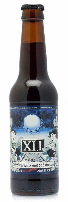 XI.I Samhain / Cerveza francesa de tipo Quadrupel de color oscuro / Alcohol 11,1%. BA SCORE 87 very good / THE BROS - no score