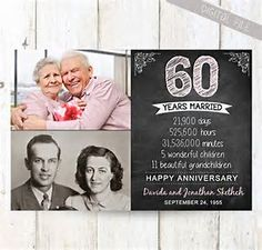 Image result for 60th Anniversary Gifts for Parents
