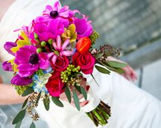 red rose anemone bouquet - cheri pearl photography