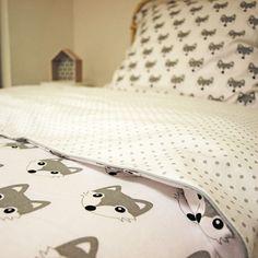cotton duvet cover grey bedding fox duvet cover modern