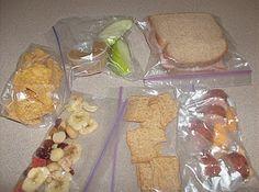 School lunch make-ahead plans.