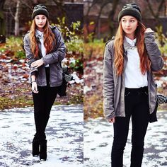 The first snow.. (by Claudia W) http://lookbook.nu/look/4312277-The-first-snow