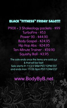 Friends, it's almost time for some of the hottest fitness deals of the weekend! Save up to 68% on some programs! These will go super fast & once they're sold out they're gone. Sale begins Fri 11/23 @ 9am PST & ends Mon 11/26 @ 9pm PST. Comment or message me with any questions. Happy shopping! #beachbody #sale #blackfriday #cybermonday #healthyliving #getfit #lovetobeyourcoach #bodybyb #deals