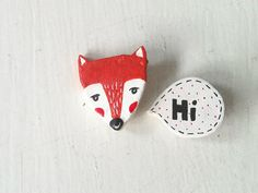 Fox Say Hi (Pin)