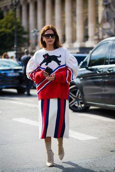 On Christine Centenera, stylist: Gucci sweater.