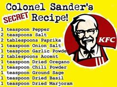 KFC breading recipe
