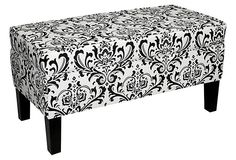 Breene Storage Bench, Black/White on OneKingsLane.com
