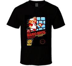 T-Shirt Bandit Super Mario Bros Original Nintendo Retro Vintage Video Game T Shirt