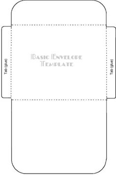 envelope template | Standard Envelope Template Free greeting card ...