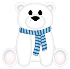 "Photo from album ""A Cute Winter"" on Yandex. Polar Bear Cartoon, Cute Polar Bear, Cute Bears, Polar Bears, Teddy Bear, Bear Images, Bear Pictures, Winter Cliparts, Christmas Paintings"