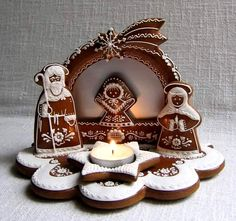 beautiful gingerbread nativity
