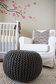 crochet bean bag foot rest. I would really love one for the chair in my room!!!! :D