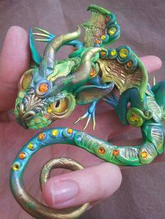 Gunilla Flexible Baby Dragon by MakoslaCreations on Etsy, $73.00