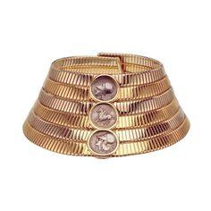 "Bulgari - Tubogas choker with Greek silver coins, Tubogas bracelet with Roman Imperial bronze coins ""Life in Bulgari"" Magazine Photo Credit: Guido Taroni"