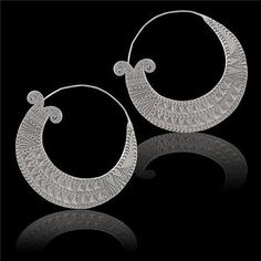 Beautiful And Classic Traditional Silver Earrings  by RONIBIZA, $48.50