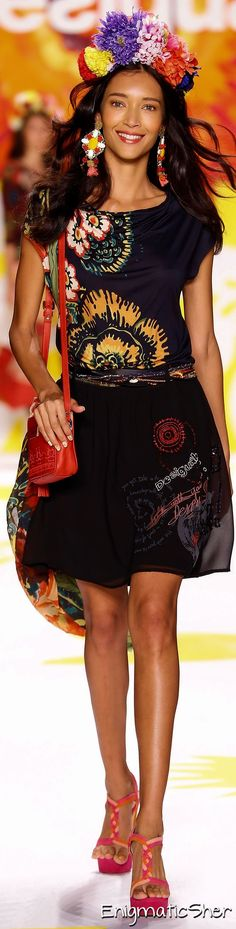 Color fashion Glam                                         Desigual Spring Summer 2015 Ready-To-Wear