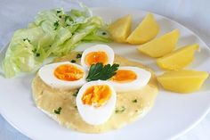 Eier in Senfsauce von manuela one Easy Healthy Recipes, Vegetarian Recipes, Kenwood Cooking, Sauces, Chicken Drumstick Recipes, Tasty Videos, Egg Recipes For Breakfast, Foods With Gluten, Pasta Recipes