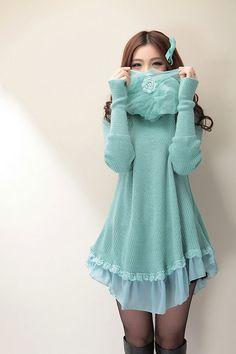 Mango Doll - Cute Knit Sweater Dress , $48.00 (http://www.mangodoll.com/all-items/cute-knit-sweater-dress/)  :)