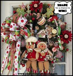 This site has beautiful wreaths and more! Wreaths: Decorative Door Wreaths, Luxury Christmas Wreaths - Petal Pusher's Home - Maplesville, AL Gingerbread Decorations, Christmas Gingerbread, Noel Christmas, All Things Christmas, Handmade Christmas, Christmas Decorations, Christmas Ornaments, Gingerbread Men, Gingerbread Ornaments