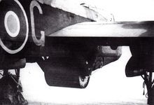 """""""Upkeep"""" bouncing bomb mounted under Lancaster B III (Special). #Dambusters"""